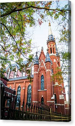 Canvas Print featuring the photograph St Paul's Cathedral In Downtown Birmingham by Shelby Young