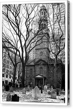 Bare Trees Canvas Print - St. Paul's Chapel by Jessica Jenney