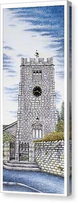 St Paul's Church Clock Canvas Print by Sandra Moore
