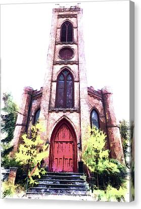 Finger Lakes Canvas Print - St Paul's Episcopal Church, Montour Falls Ny by Leslie Montgomery