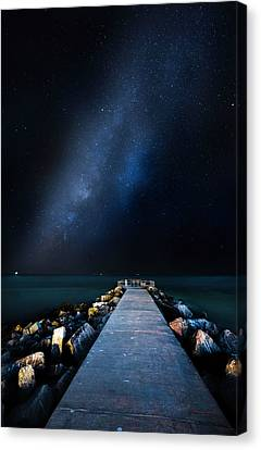 St Petersburg Canvas Print - St. Pete Night by Marvin Spates