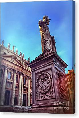 Religious Icon Canvas Print - St Peter by HD Connelly