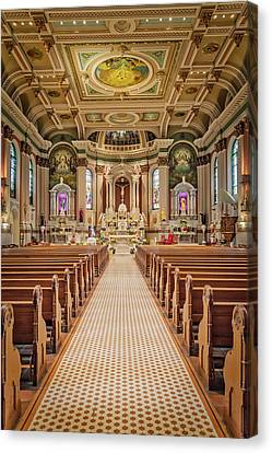 Canvas Print featuring the photograph St Peter The Apostle Church Pa by Susan Candelario