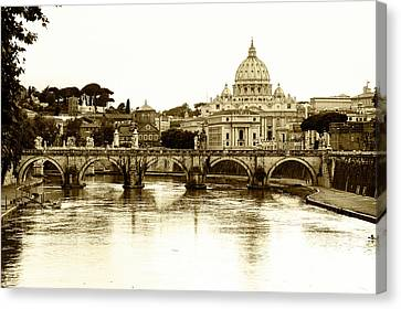 Canvas Print featuring the photograph St. Peters Basilica by Mircea Costina Photography