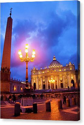 St. Peters Cathedral At Night Canvas Print