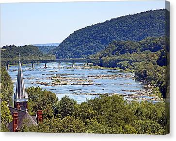 St. Peters Catholic Church In Harpers Ferry West Virginia Canvas Print by Brendan Reals