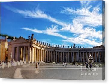 St Peters Square, Vatican City Canvas Print by HD Connelly