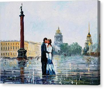 St. Petersburg Canvas Print by Leonid Afremov
