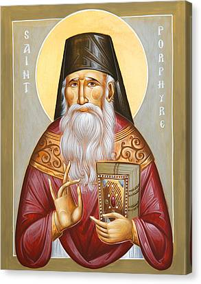 St Porphyrios Of Kavsokalyvia Canvas Print by Julia Bridget Hayes
