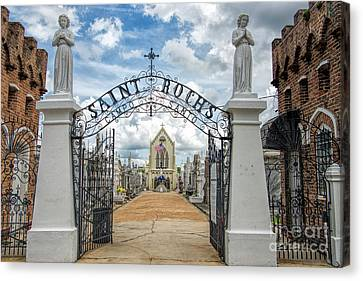 St. Roch's Cemetery In New Orleans, Louisiana Canvas Print by Bonnie Barry