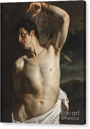 St. Sebastian Canvas Print by Hippolyte Paul Delaroche