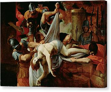 St. Sebastian Thrown Into The Cloaca Maxim Canvas Print by Lodovico Carracci