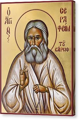St Seraphim Of Sarov Canvas Print by Julia Bridget Hayes