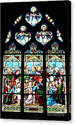 St. Severin Chuch Stain Glass Canvas Print by Loriannah Hespe