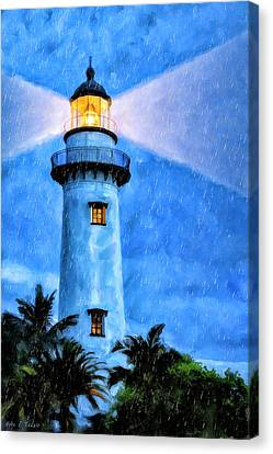 Lights On For You At St. Simons Canvas Print