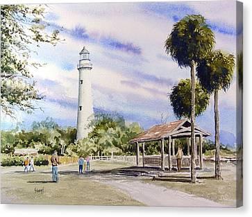 St. Simons Island Lighthouse Canvas Print by Sam Sidders