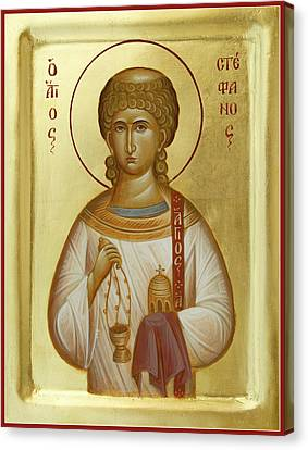 St Stephen The First Martyr And Deacon Canvas Print by Julia Bridget Hayes