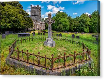 Cemetary Canvas Print - St Tegai Cross by Adrian Evans