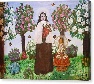 St. Teresa And The Infant Jesus Canvas Print by Seaux-N-Seau Soileau