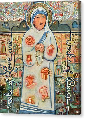 St. Teresa Of Kolkata Canvas Print by Jen Norton