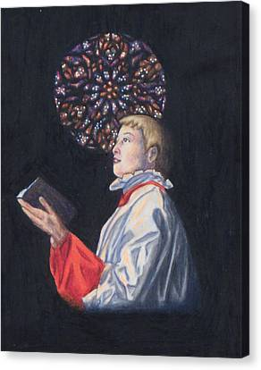St. Thomas Episcopal Nyc Choir Boy Canvas Print by Laurie Tietjen