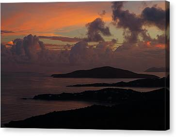 Canvas Print featuring the photograph St Thomas Sunset At The U.s. Virgin Islands by Jetson Nguyen