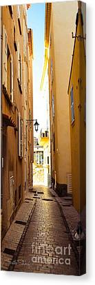 St. Tropez - Narrow Streets  Canvas Print by Turtle Shoaf