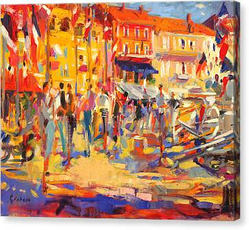 St Tropez Promenade Canvas Print by Peter Graham