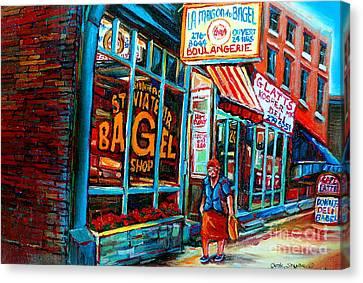 St. Viateur Bagel Bakery Canvas Print by Carole Spandau