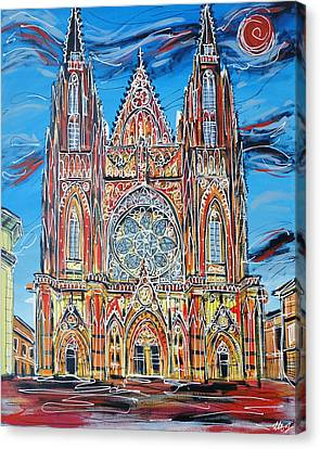 St Vitus Cathedral  Canvas Print by Laura Hol