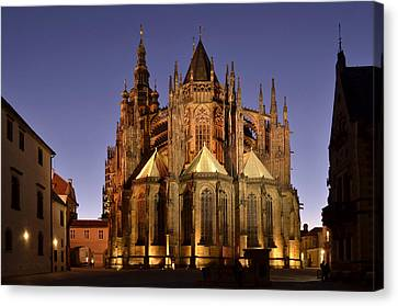 Canvas Print featuring the photograph St Vitus Cathedral Prague by Marek Stepan