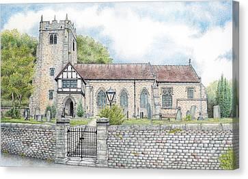 St Wilfrids Church Halton Lancashire Canvas Print by Sandra Moore