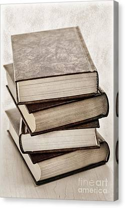 Stacked Canvas Print - Stack Of Books by Elena Elisseeva