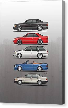 Wagon Canvas Print - Stack Of Mercedes Benz W124 E-class by Monkey Crisis On Mars