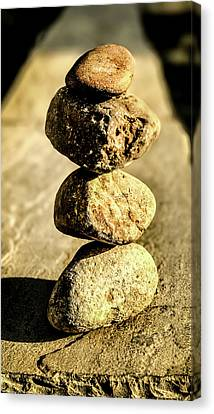 Canvas Print featuring the photograph Stacked Rocks by Onyonet  Photo Studios