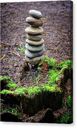 Canvas Print featuring the photograph Stacked Stones And Fairy Tales II by Marco Oliveira