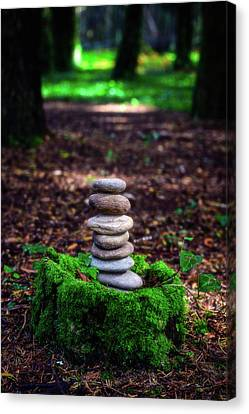 Canvas Print featuring the photograph Stacked Stones And Fairy Tales Iv by Marco Oliveira