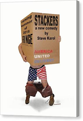 Stackers Poster Canvas Print