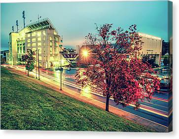 Stadium Of The Arkansas Razorbacks Football - Donald W. Reynolds Stadium - Fayetteville Arkansas Canvas Print by Gregory Ballos