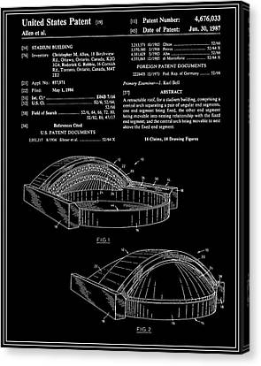 Stadium Patent - Black Canvas Print by Finlay McNevin