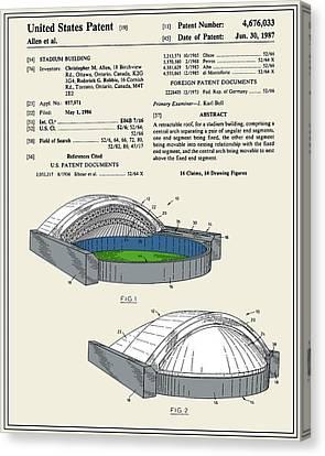 Stadium Patent Canvas Print by Finlay McNevin