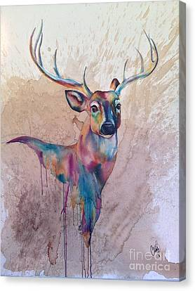 Canvas Print featuring the painting Stag Spirit by Christy  Freeman