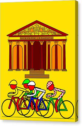 Stage 21  They Pass By L'eglise De La Madeleine Canvas Print by Asbjorn Lonvig