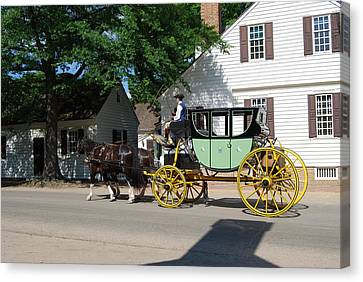 Stage Coach Canvas Print by Eric Liller