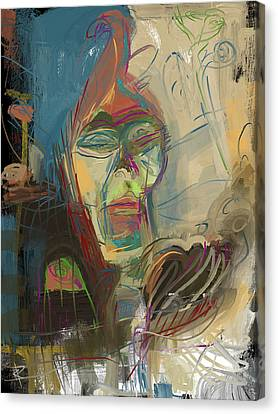 Stage Fright Canvas Print by Russell Pierce