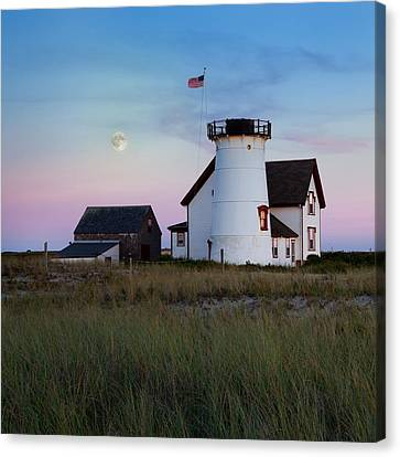 Stage Harbor Light Cape Cod Canvas Print by Bill Wakeley