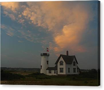 Stage Harbor Lighthouse Canvas Print by Juergen Roth