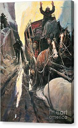 Stagecoach Robbers Canvas Print by Granger