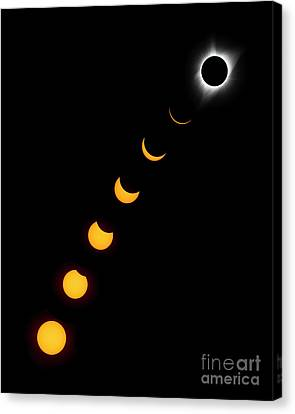 Totality Canvas Print - Stages To Totality by John Blumenkamp