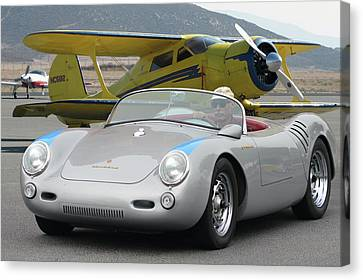 Canvas Print featuring the photograph Staggerwing Spyder by Bill Dutting